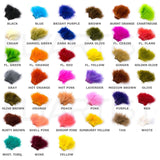 Strung Marabou Blood Quill Color Chart