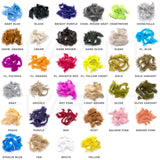 Hareline Crosscut Rabbit Strip Color Chart