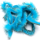 Black Barred Rabbit Strips - Fluorescent Blue