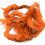 Black Barred Rabbit Strips - Hot Orange