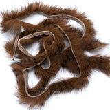 Black Barred Rabbit Strips - Medium Brown