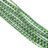 Hareline Barred Crazy Legs - Frog Green / Pearl Flake