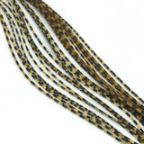Hareline Barred Crazy Legs - Golden Yellow / Pearl Flake