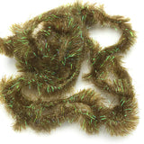 Hareline Frizzle Chenille - Olive Brown