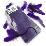 Hareline Grizzly Soft Hackle - Purple