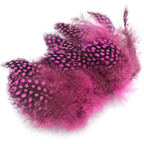 Hareline Strung Guinea Feathers - Hot Pink