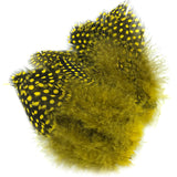 Hareline Strung Guinea Feathers - Yellow