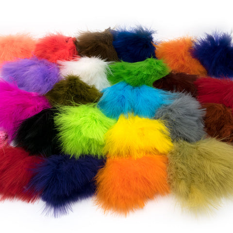 Hareline Strung Marabou Blood Quills - Fly Tying Feathers