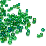Tyers Glass Beads - Iridescent Caddis Green