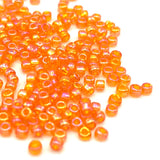 Tyers Glass Beads - Iridescent Caddis Orange