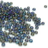 Tyers Glass Beads - Iridescent Grey