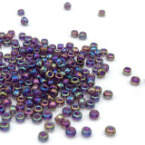 Tyers Glass Beads - Iridescent Purple