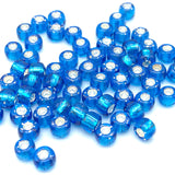 Tyers Glass Beads - Silver Lined Blue