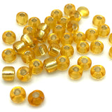 Tyers Glass Beads - Silver Lined Gold