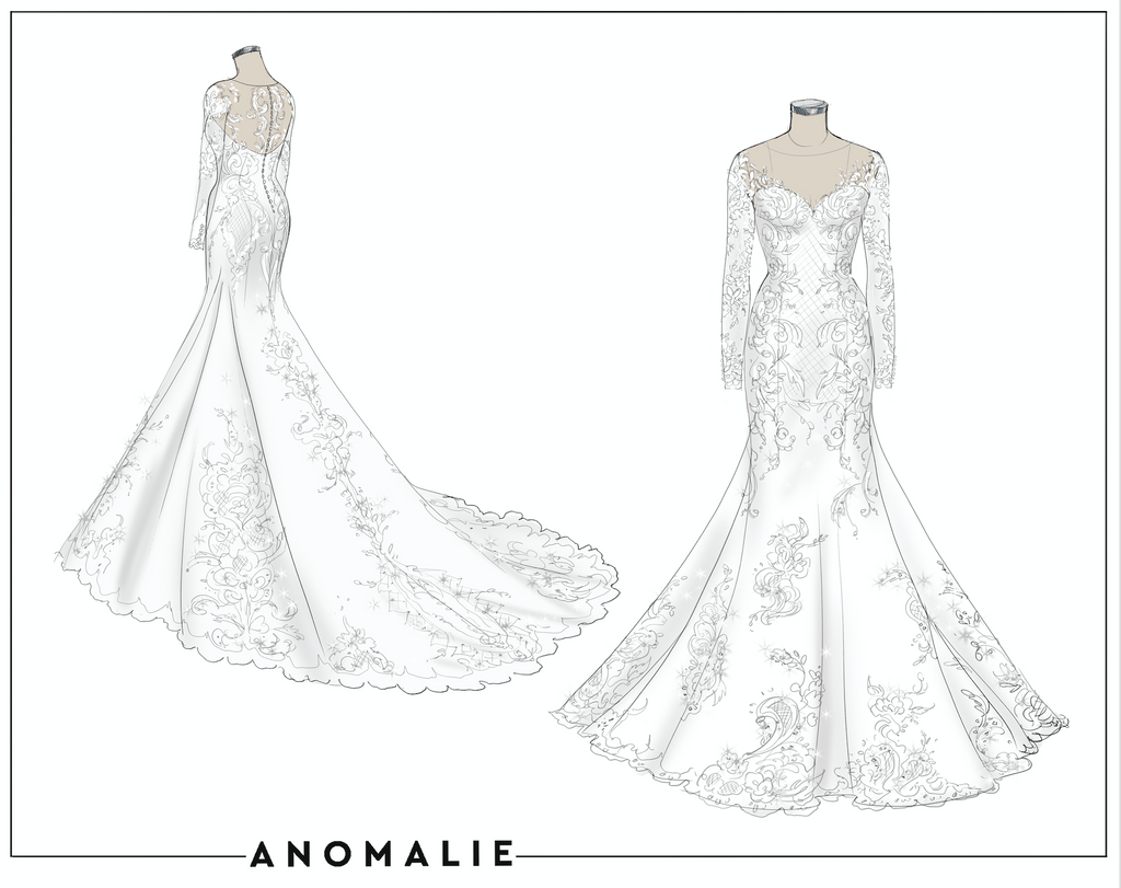 Design your One of a Kind Wedding Gown from Home With Anomalie!