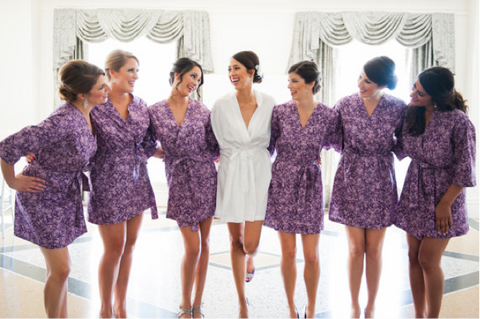 Modern Kimono Wedding Getting Ready Outfits