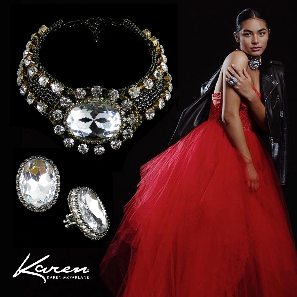 Editorial-Necklace & Ring by Karen McFarlane