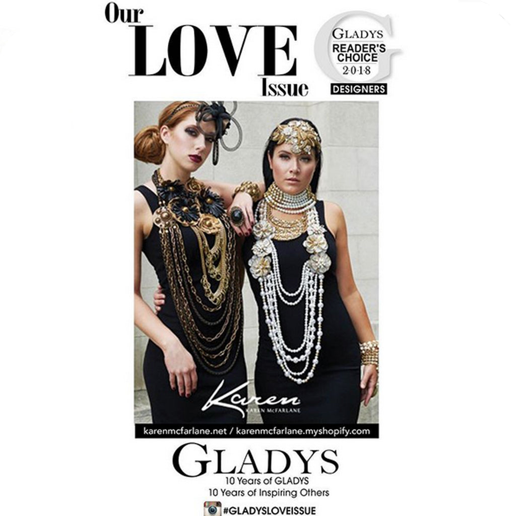Karen McFarlane Advertorial In Gladys Magazine Love Issue Wins Readers Choice Award!