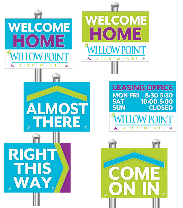 Custom Design Property Directional Sign
