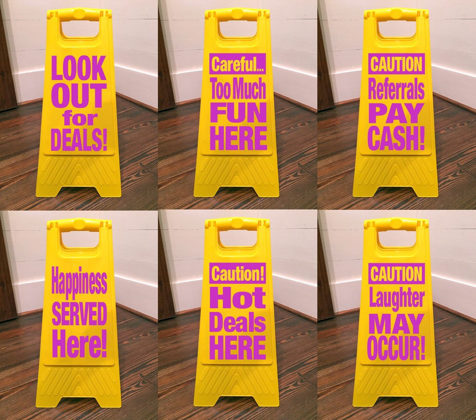 Custom Floor Caution Signs