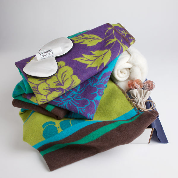 Carton Botanical - Plush flannel blanket, fluffy socks, a silk eye mask, soothing lip balm and all-natural lollipops ensure the patient has everything she needs for a vibrant recovery.