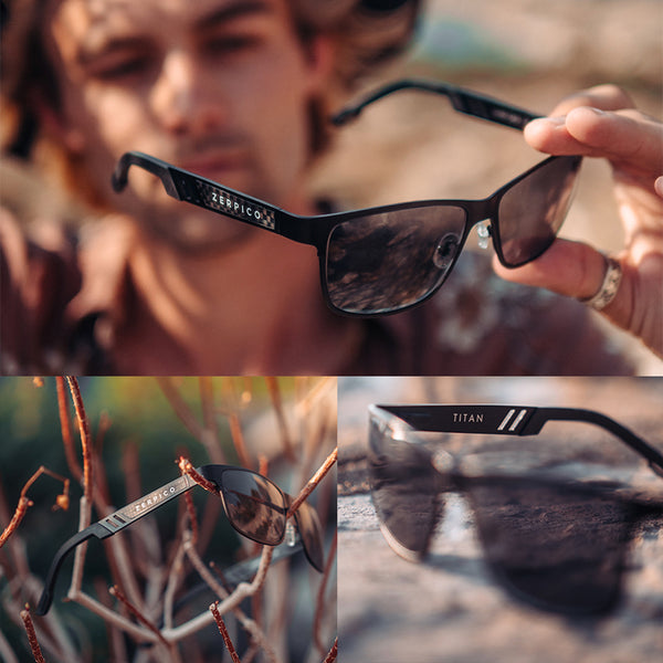 Our black framed Titanium wayfarers. Perfect sunglasses for everyone that wants high qulaity.