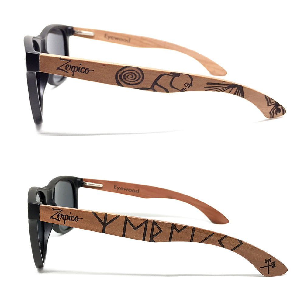 Our older versions of engraved Eyewoods, native and viking designs.
