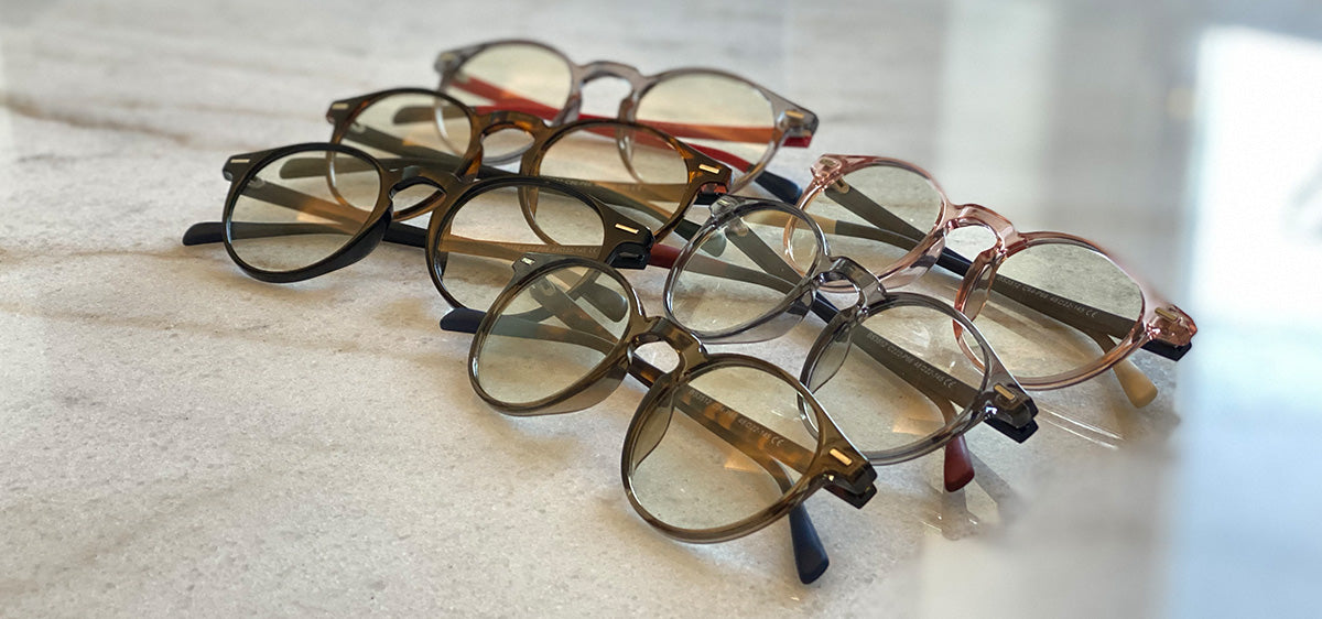 Holo is our round colorful model of anti blue-light glasses.
