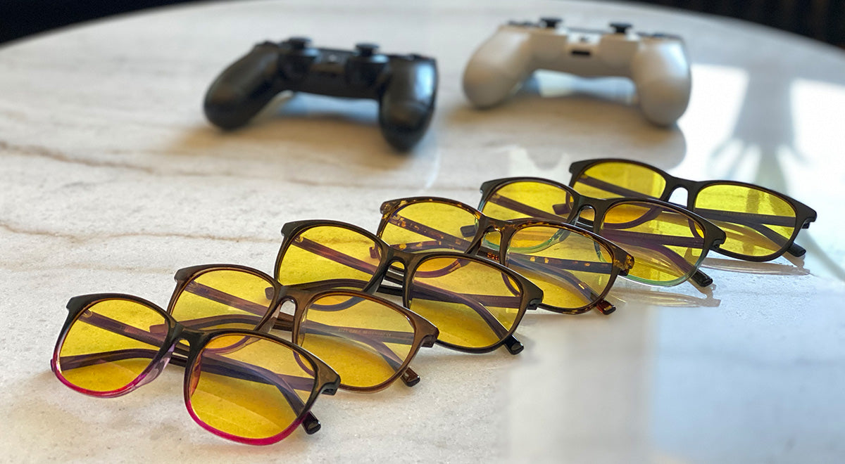 Neo gaming and anti bluelight wayfarer glasses with yellow lenses. The best choice for all gamers.