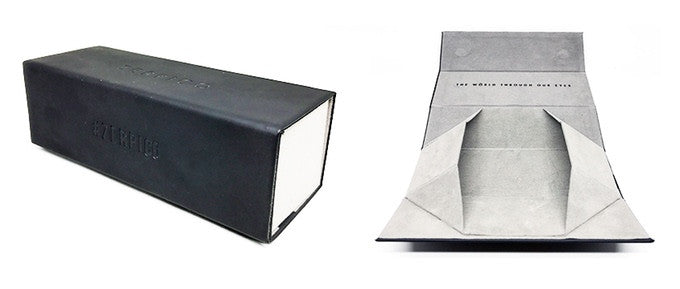 PU leather box for Titan titanium aviator sunglasses.