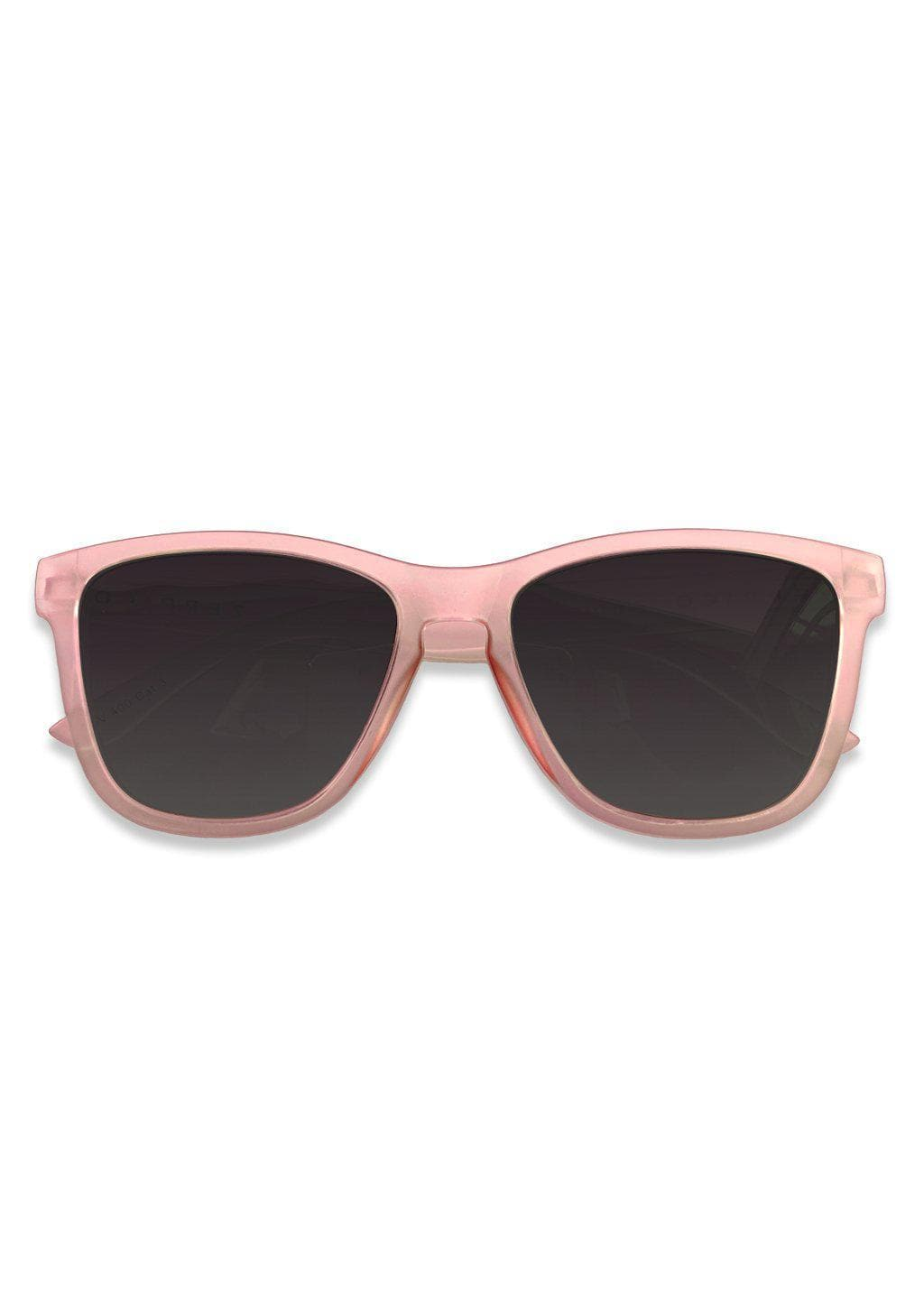 Our Mood V2 is an improved version of our last wayfarers. Plastic body for great quality and durabilty. This is Orchid with pink frame and black lenses.