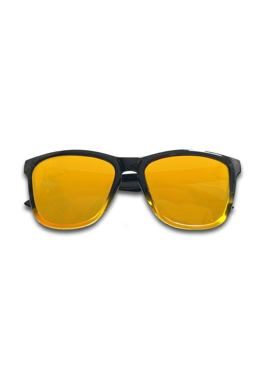 MOOD Wayfarer - Sunny - Sunglasses with yellow mirror lenses.