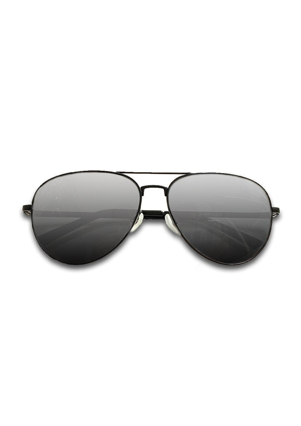 Titanium Aviator Sunglasses - TITAN - Black - Made of pure titanium.