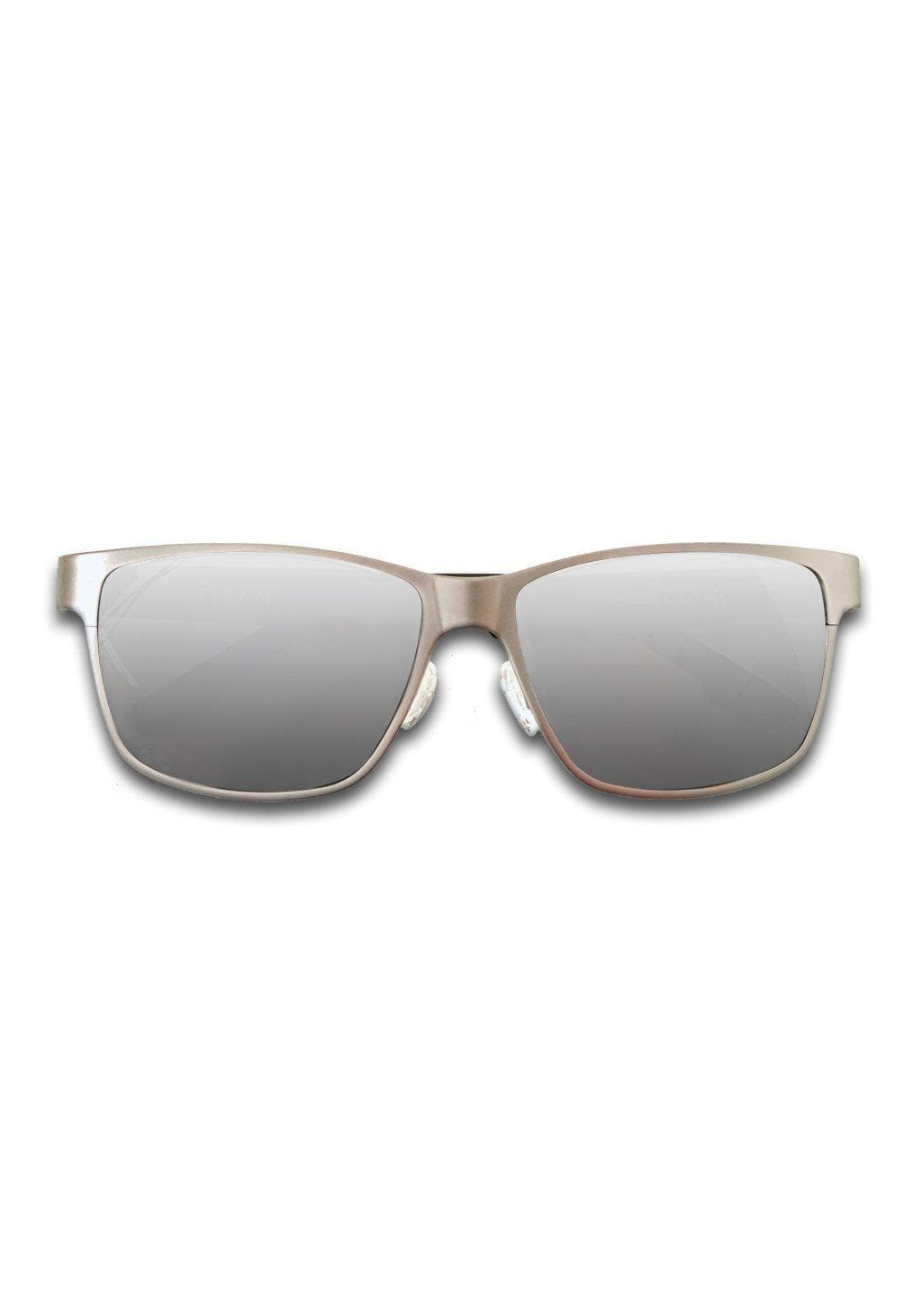 Titanium Wayfarer Sunglasses - TITAN - Gun Metal - With grey lenses.