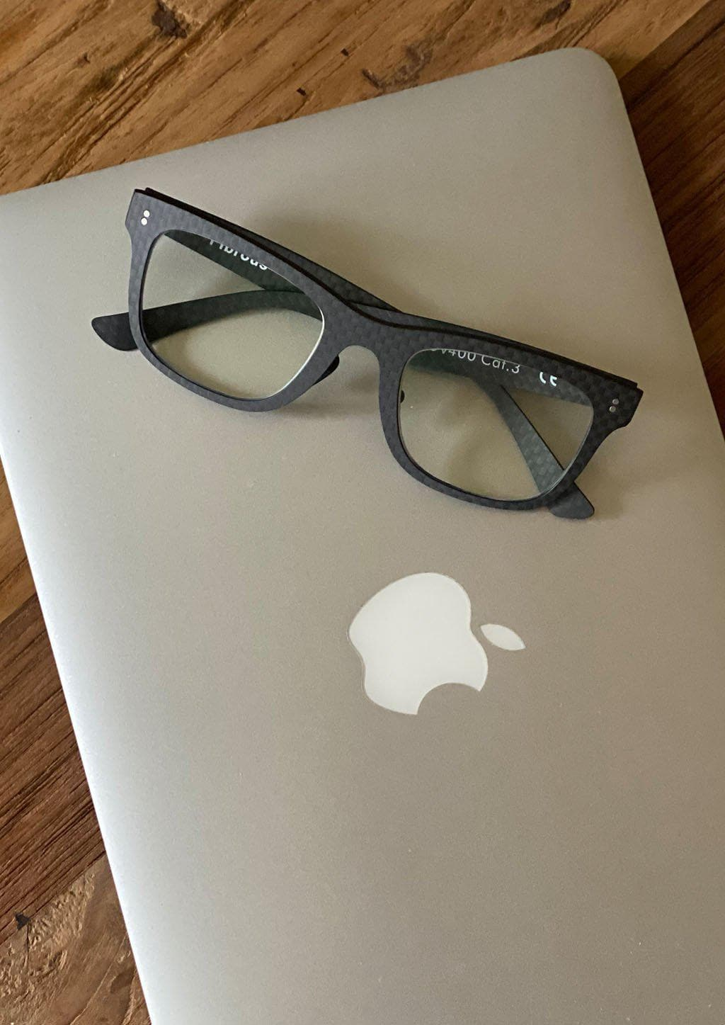 Our Anti Blue Light version of our Fibrous Carbon Fiber glasses. Perfect for gamers. Working on the computer.