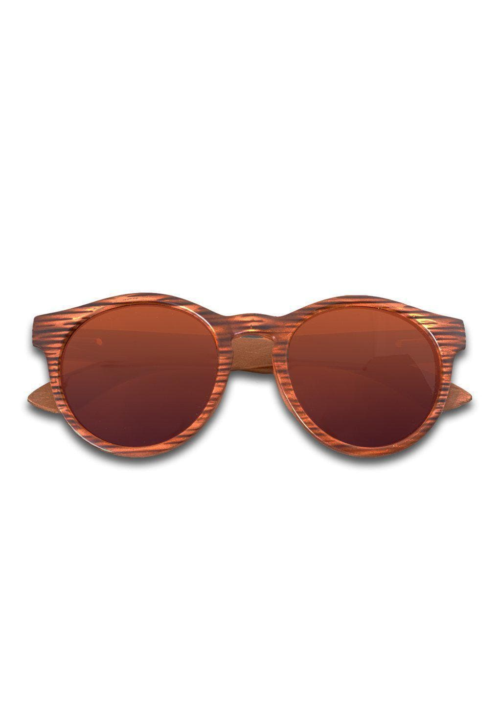 Eyewood Round - Dominique - Wooden sunglasses with round frame in brown with brown lenses. Really beautiful.