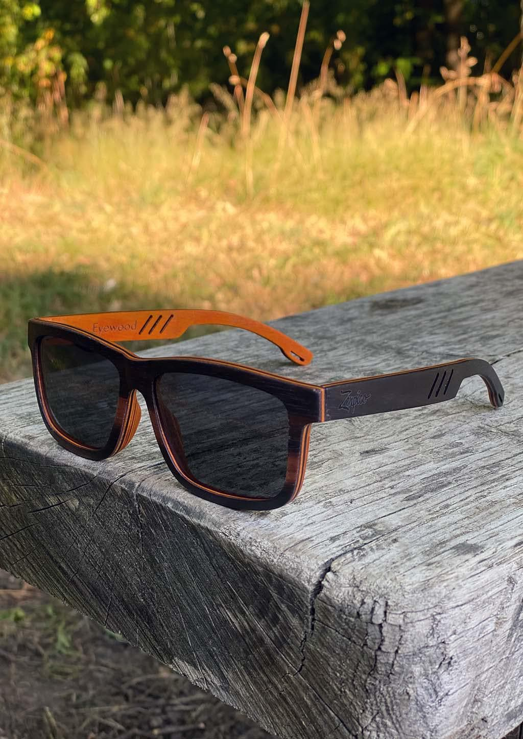 Handmade wooden wayfarers in wood and are guaranteed to give you a natural feeling of comfort and design.  Duriel is a full wooden model so all made in beautiful wood. This special edition pair is made to stand out. Shoot from outside in the sun in Sweden.