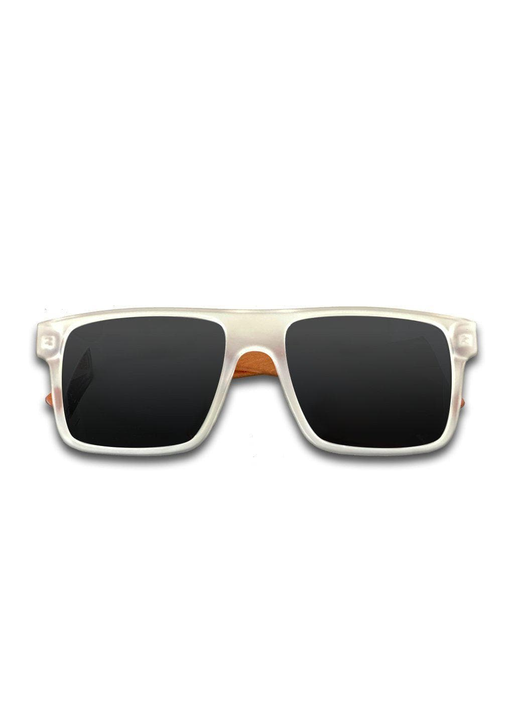 Eyewood Square - Blake - Modern design with silver mirror lenses and clear front.