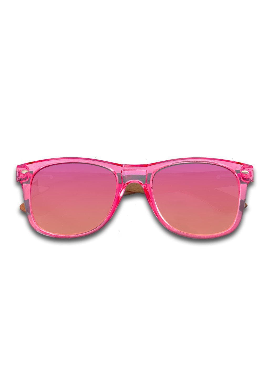 Eyewood Wayfarer - Coral - Nice wayfarers with pink frame and pink lenses.