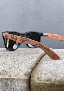 Eyewood Wayfarer  Spec. Ed. - Tribal - Wooden Sunglasses
