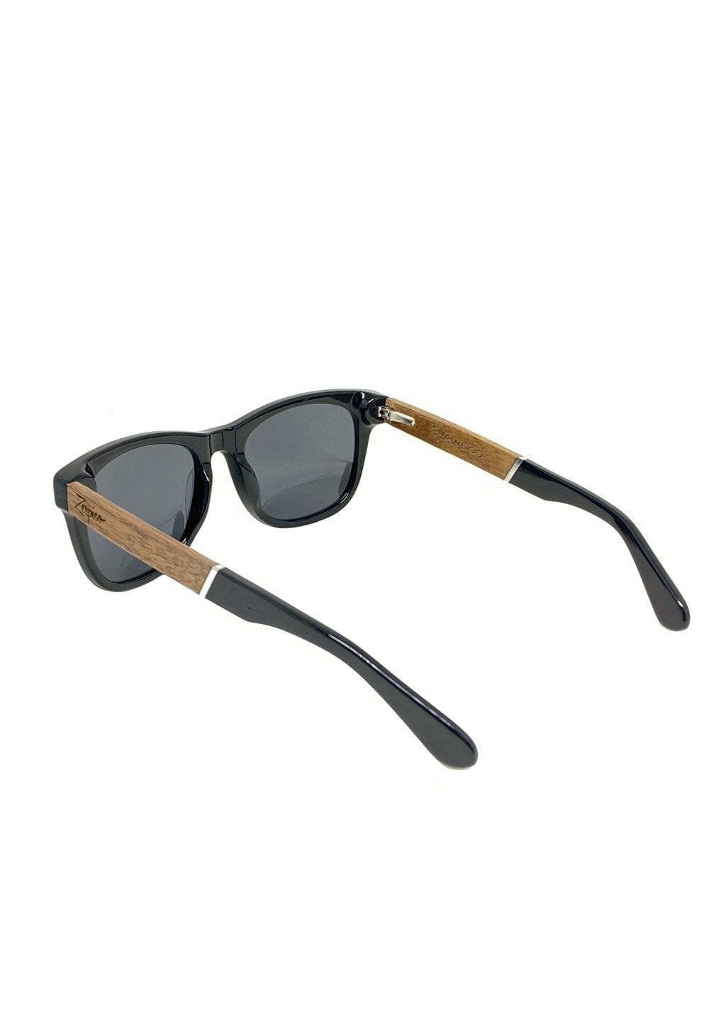 Eyewood Wayfarers - Fusion - Viper - A mix of acetate and wood makes theses sunglasses unique. Back side.