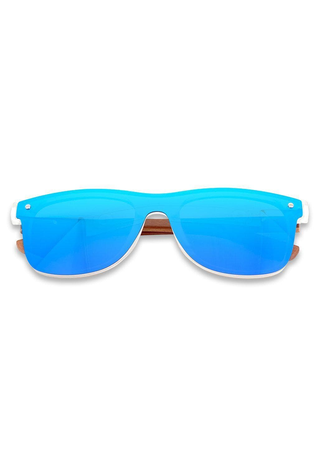 Eyewood tomorrow is our modern cool take on classic models. This is Gemeni with blue mirror lenses. Nice wooden sunglasses.