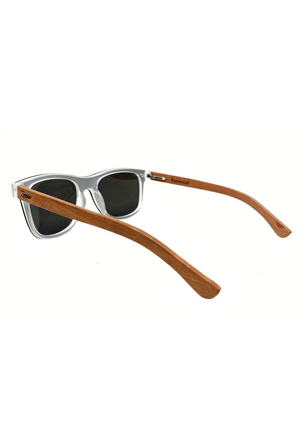 Eyewood tomorrow is our modern cool take on classic models. This is Perseus with silver mirror lenses. Nice wooden sunglasses in studio from the back.