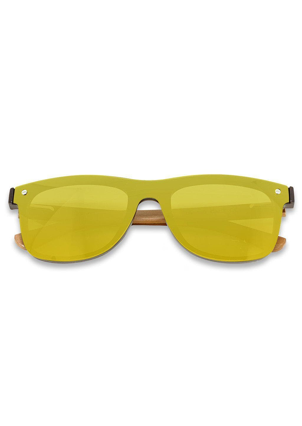 Eyewood tomorrow is our modern cool take on classic models. This is Scorpius with yellow mirror lenses. Nice wooden sunglasses.