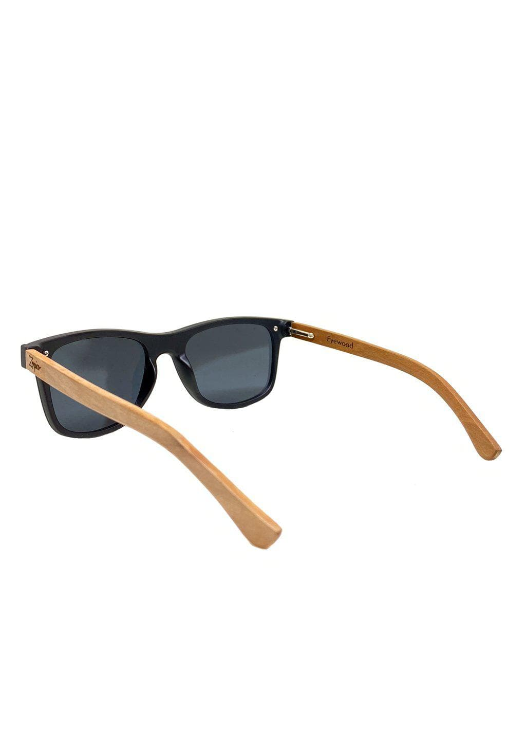 Eyewood tomorrow is our modern cool take on classic models. This is Taurus with black lenses. Nice wooden sunglasses. From back.