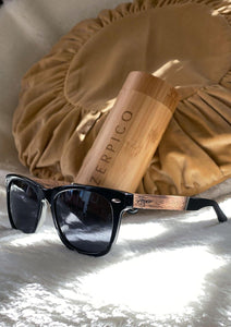 Eyewood Wayfarers - Fusion - Viper - A mix of acetate and wood makes theses sunglasses unique. Great times in the sun.