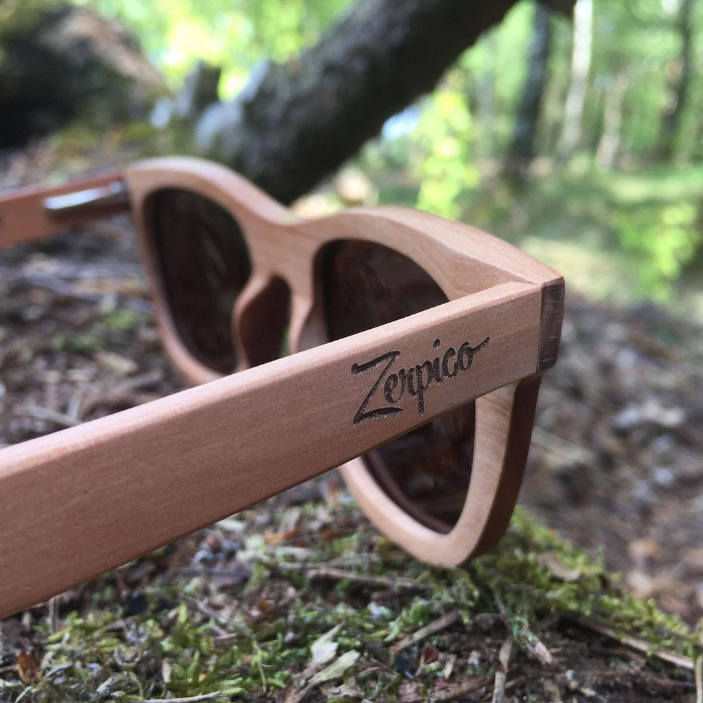 Eyewood Wayfarer - Waki - All wooden sunglasses in the forest