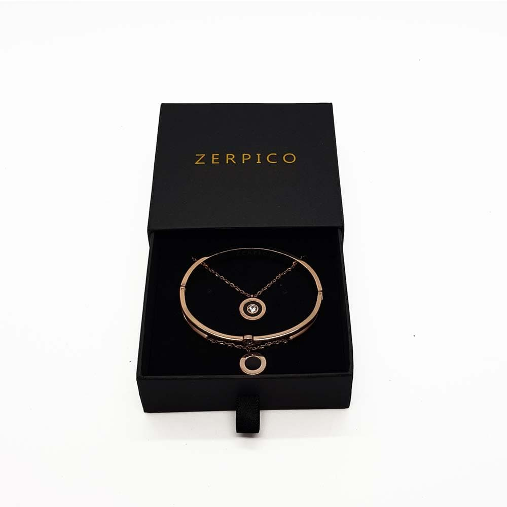 Jericho Rosé Gold Necklace & Bracelet Bundle - zerpico