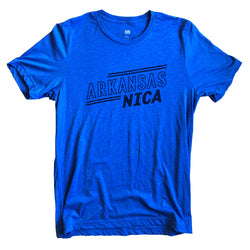Arkansas NICA Retro Tee: Blue