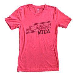 Arkansas NICA Retro Tee: Red